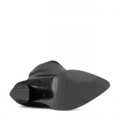 Czarne kozaki za kolano z lycry 111F