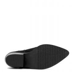 Czarne welurowe botki z ukrytym koturnem 228B