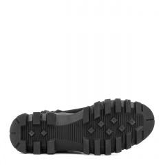 Czarne welurowe sznurowane botki na grubej podeszwie 214G