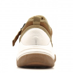 Brązowo-beżowe sportowe buty na grubej podeszwie 256D