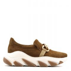 Rude welurowe sportowe buty z masywną ozdobą 256F