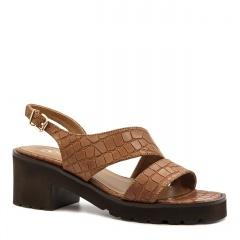 Rude skórzane sandały na grubej podeszwie 85D