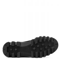 Czarne wsuwane botki na grubej podeszwie 214T