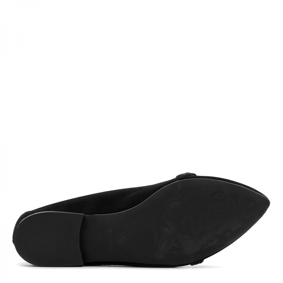 Czarne zamszowe baleriny 263P