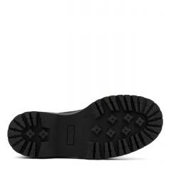 Czarne welurowe sznurowane botki za kostkę 246B