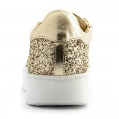 Złote brokatowe creepersy 63S