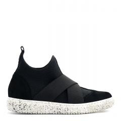 Sportowe czarne buty socks z gumkami