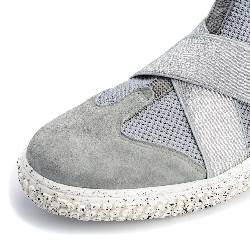 Sportowe siwe buty socks z gumkami