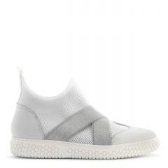 Sportowe białe buty socks z gumkami