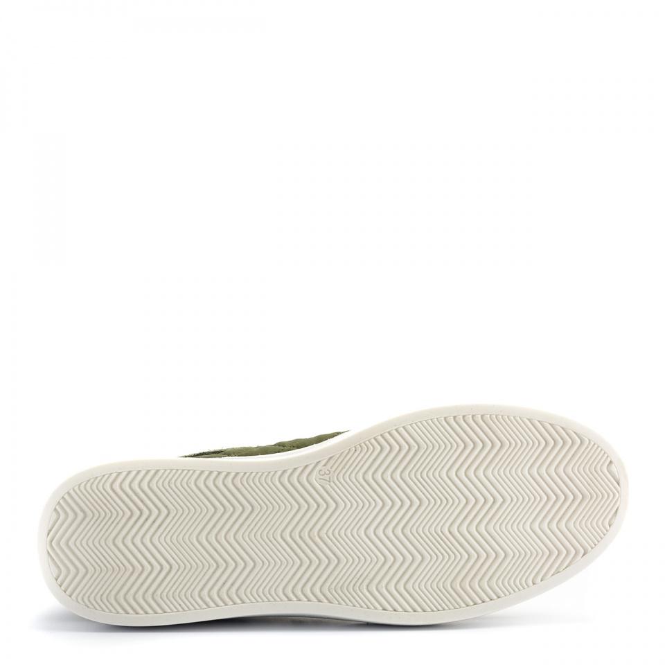 Zielone pikowane sportowe buty 63P