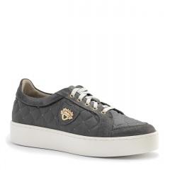 Szare pikowane buty sportowe 63P