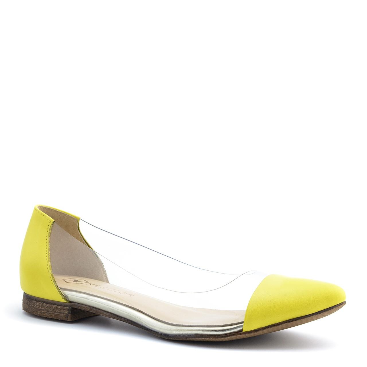 367c4f01b178bb Żółte baleriny z sylikonu 77Z - Neścior Sklep Firmowy