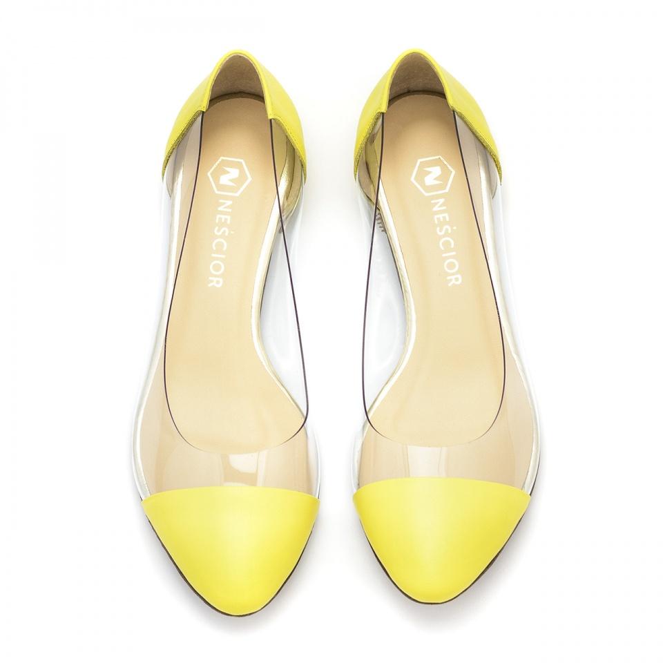 Żółte baleriny z sylikonu