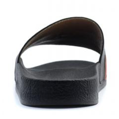 Czarne klapki na miękkiej lekkiej podeszwie