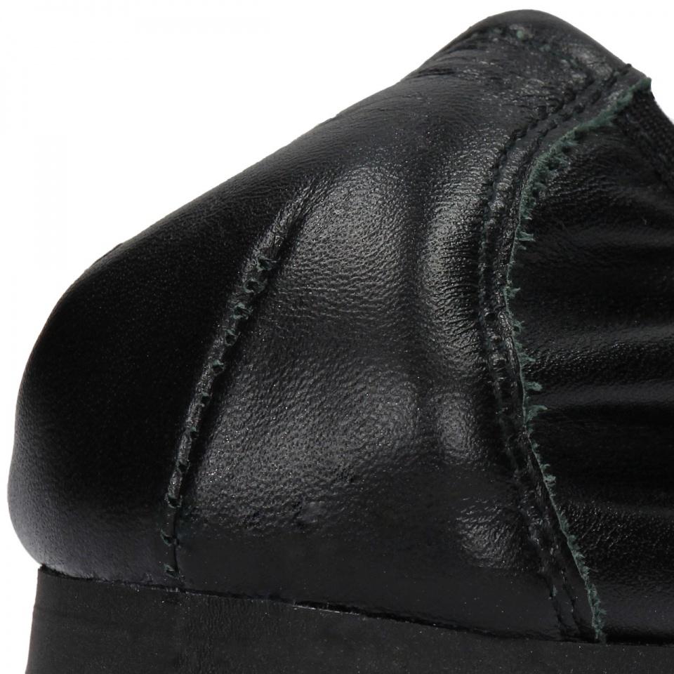 Czarne skórzane baleriny z kokardą na przodzie 40G