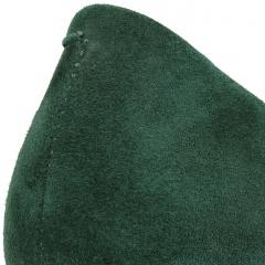 Zielone zamszowe szpilki na niskim obcasie 78H