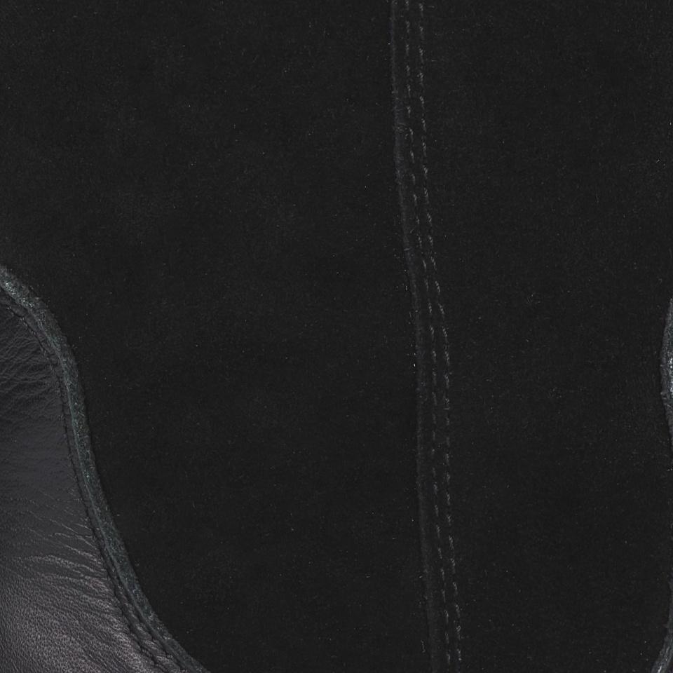Długie czarne skórzane kozaki 13L