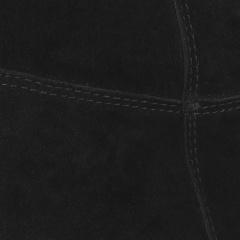 Czarne welurowe kozaki z ukrytym koturnem 27K