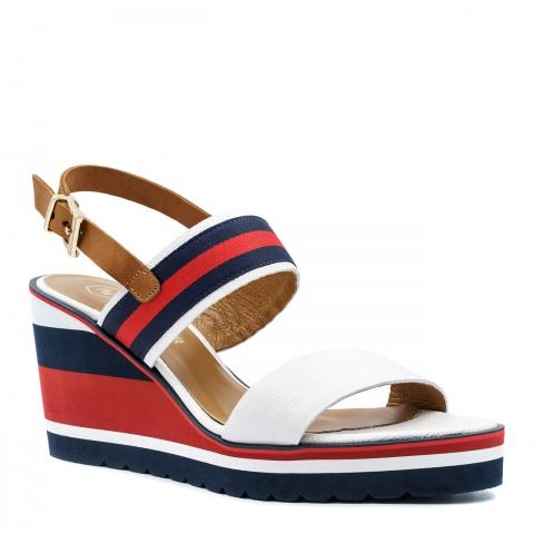 31e2bd09 Kolorowe skórzane sandały na koturnie 23P ...