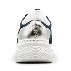 Sportowe granatowe sneakersy typu chunky 256A