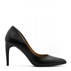 Czarne eleganckie skórzane szpilki 275C