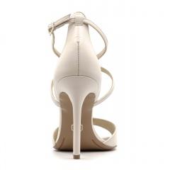 Rude skórzane sandały na szpilce ze skrzyżowanymi paseczkami 103B
