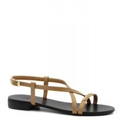 Karmelowe skórzane sandały 09P