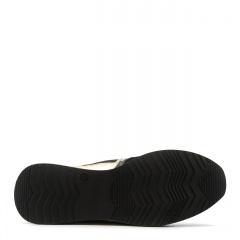 Sportowe czarne sneakersy typu chunky ze złotą wstawką 278B