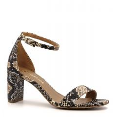 Wielokolorowe skórzane sandały w wężowy wzór 209B
